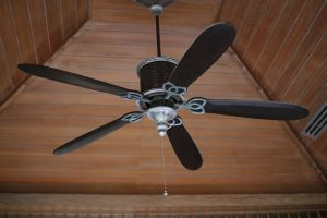 black ceiling fan
